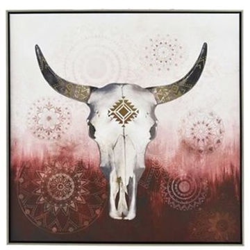 Picture of Native Skull Canvas Framed